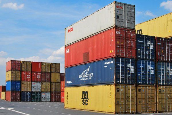 dock, container, export