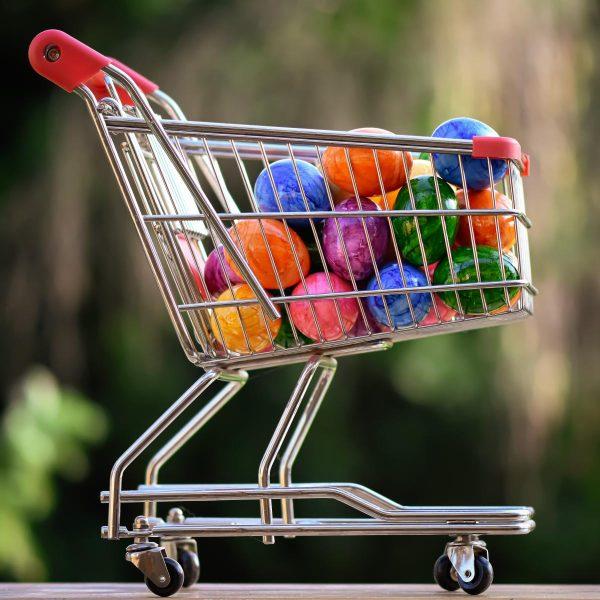 easter, purchasing, shopping cart