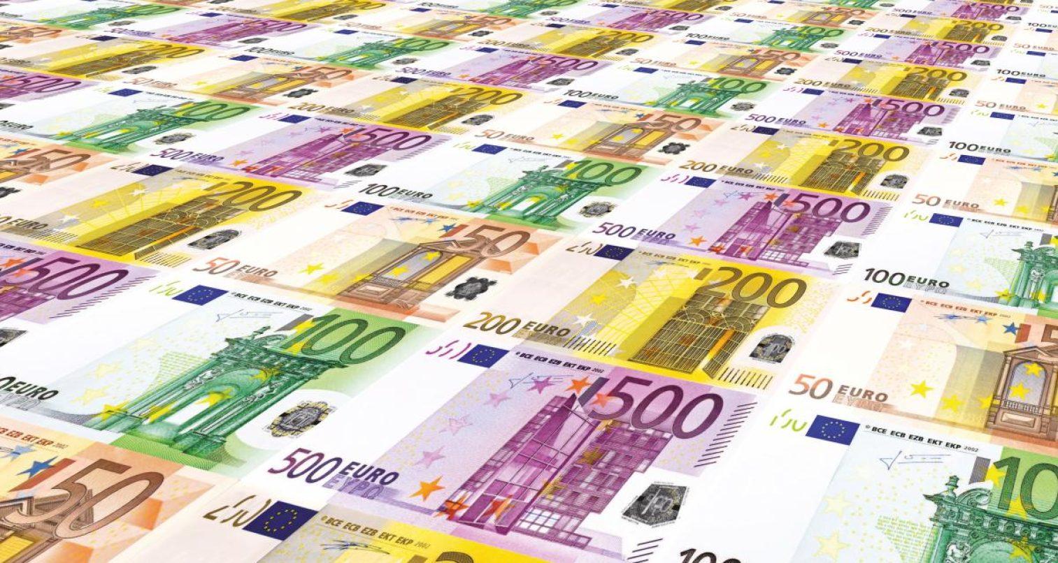 euro, stack, europe