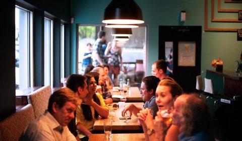 restaurant, people, eating