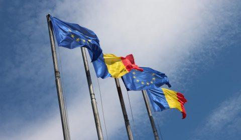 romania, eu, flags