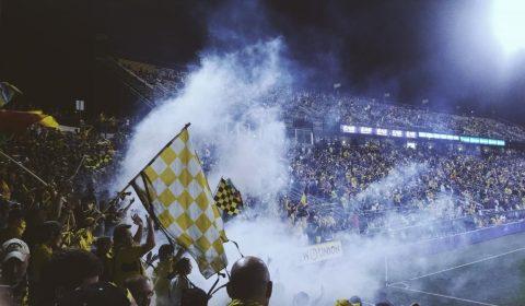 stadium, soccer, fans