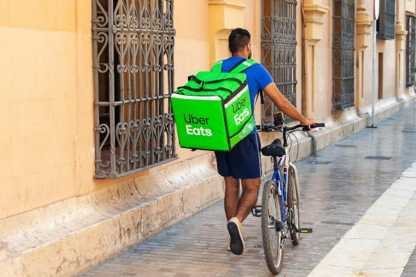 uber eats, delivery, courier
