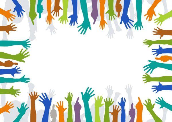 voluntariat, maini, voluntari