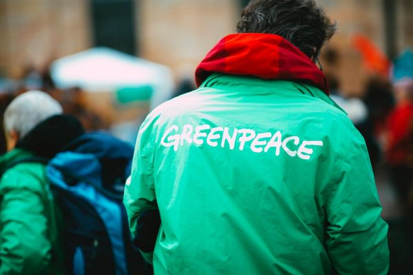 Greenpeace – climate change demonstration strike protest