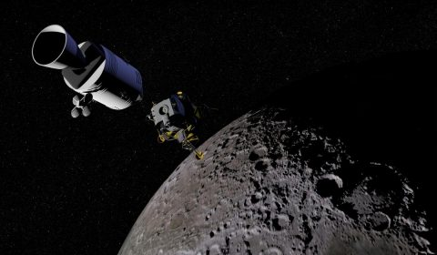 moon, satellite, space capsule