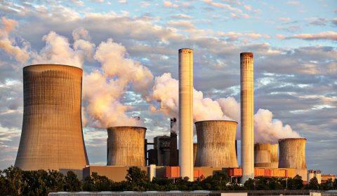 power plant, industry, chimney