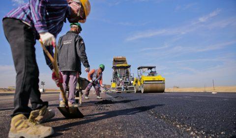 asphalt, construction, road