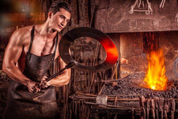 blacksmith, fire, iron