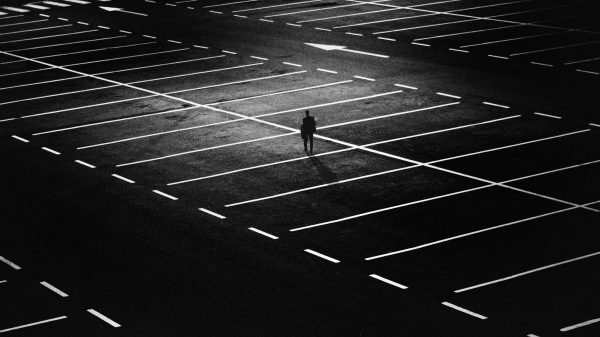 city, parking space, person