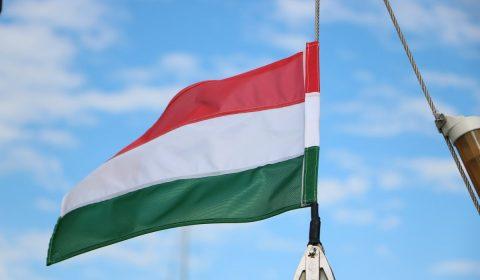 hungarian flag, sky, blue