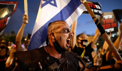 Masca Israel Protestatar