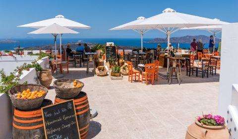 santorini, oia, restaurant