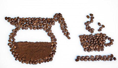 still life, coffee beans, coffee powder