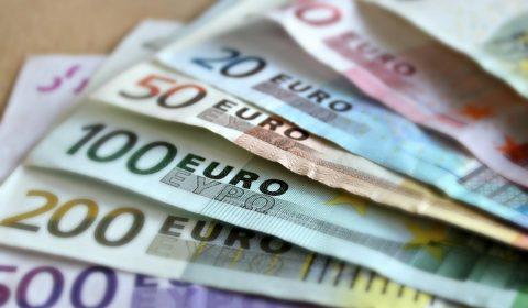 bank note, euro, bills