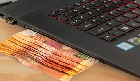 ecommerce, computer, cash
