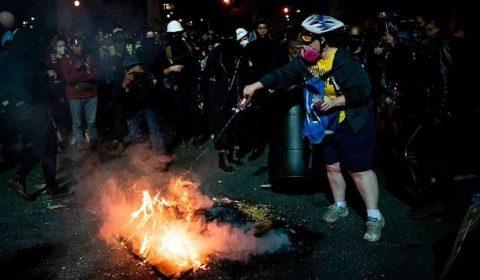 Fire At Portland Protest E1596550089504
