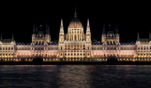 hungarian parliament, night, budapest