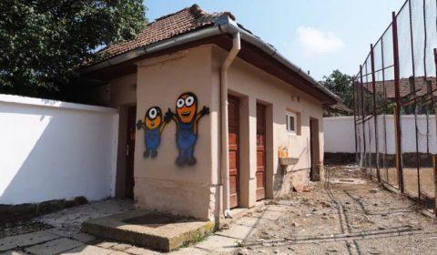 Toaleta In Curtea Scolii