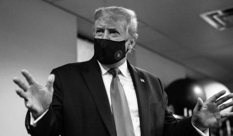 Trump Mask Bw Jpg