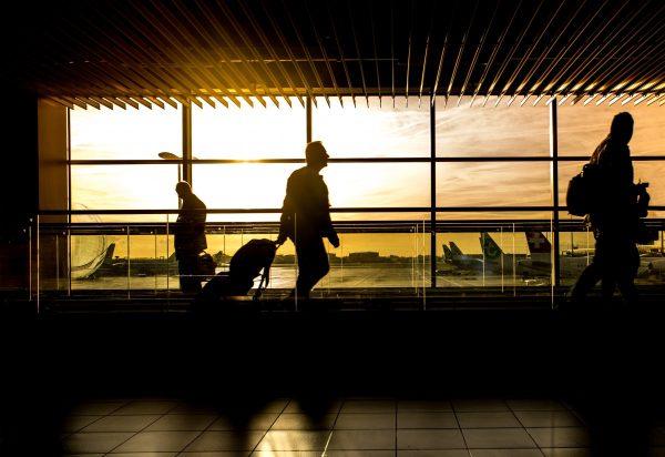 airport, man, travel