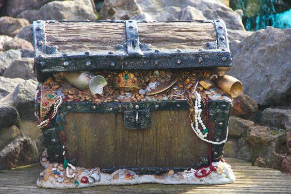 chest, treasure, pirate