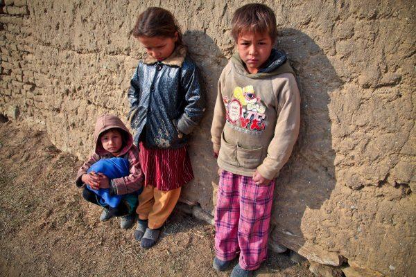 children, poor, mud village