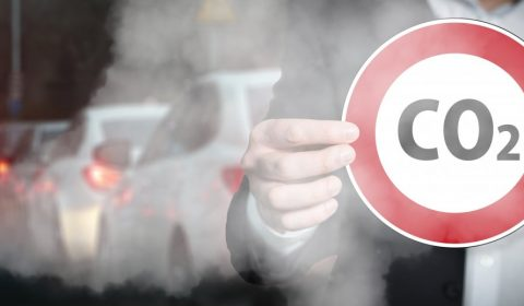 co2, exhaust gases, road sign