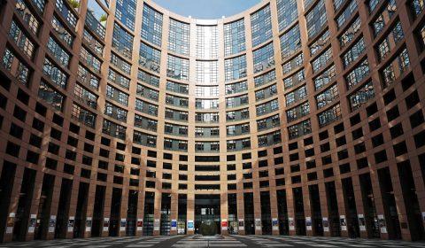 european parliament, strasbourg, courtyard