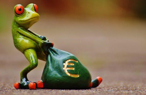 frog, money, euro