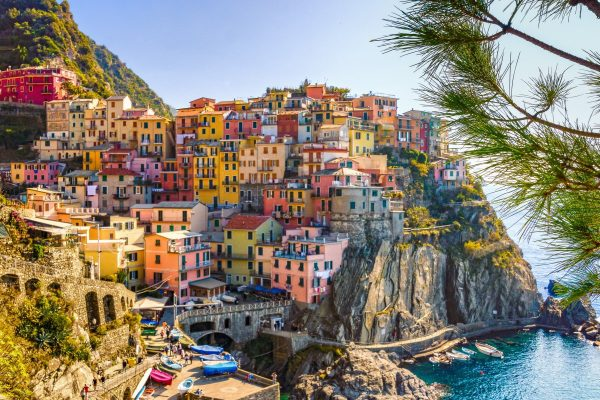 italy, sea, houses