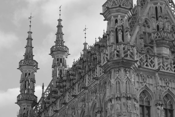 town hall, leuven, gothic architecture