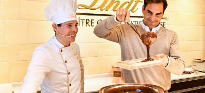 Roger Fedrer At The Zurich Airport Lindt Boutique Opening