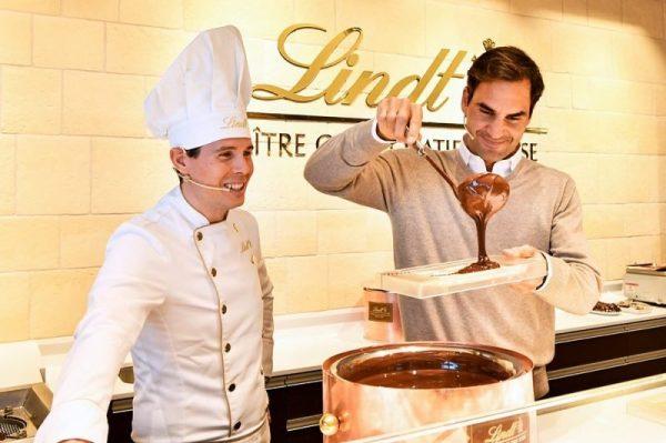 Roger Federer, brand ambassador Lindt, foto: trbusiness.com
