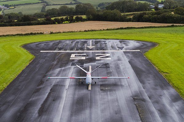 Wp Elbit Systems Hermes 900 On The Runway At Aberporth Airport
