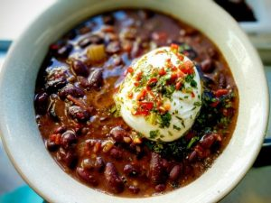 Costa Rican Black Bean Soup Scaled 768x576