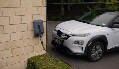 Hyundai Kona charging at Evnex charging station