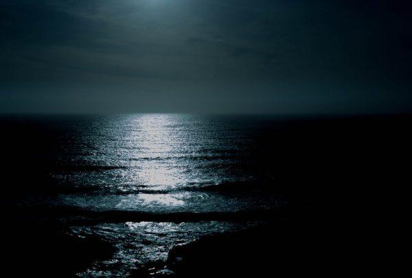 ocean, night, beauty