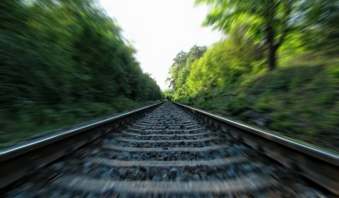 rails, railway, railroad tracks