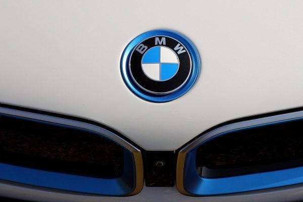 shallow focus photo of BMW emblem