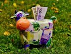 piggy bank, money, cow
