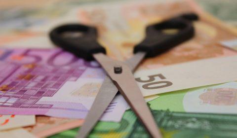 scissors, money, salary