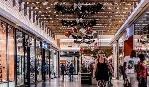 shopping mall, woman, shopping