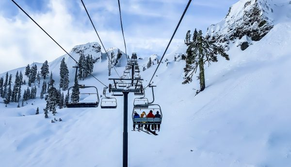 skiing, snow, winter