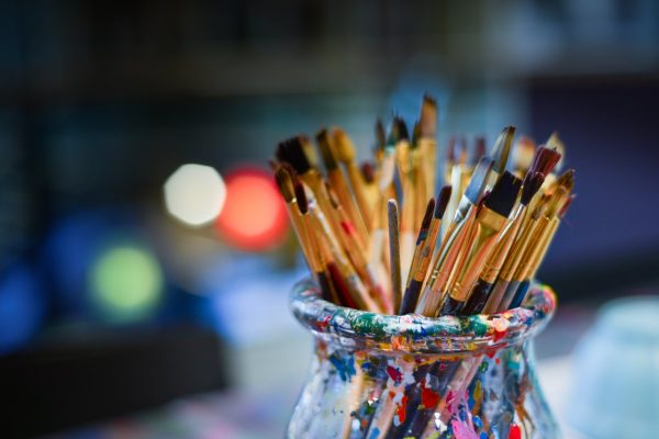 brushes, painter, work shop