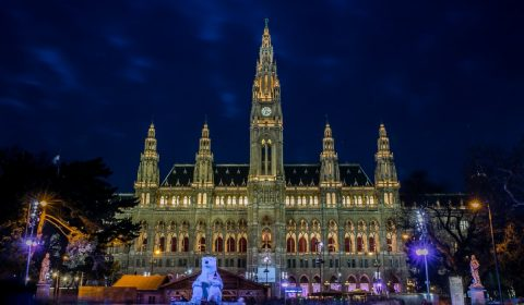 town hall, vienna, town hall square