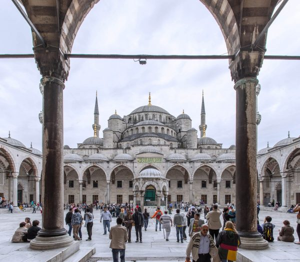blue mosque, istanbul, people