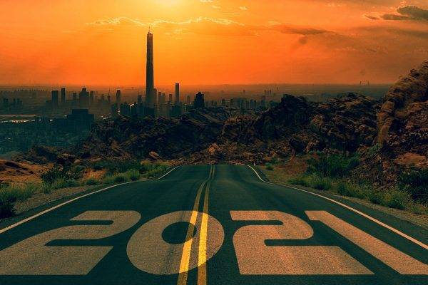 road, new year, 2021