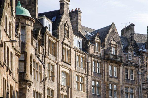 scotland, edinburgh, facades
