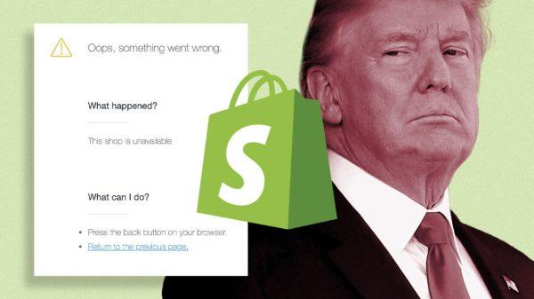Shopify Bans Trump Content 2021